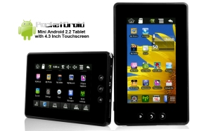 Android 2.2 Pocketdroid Tablet , 4.3 Inch Touchscreen