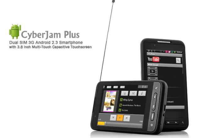 CyberJam Plus - Dual SIM 3G Android 2.3 Smartphone